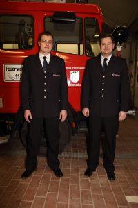 Jugendleiter Andreas Schnepple (rechts) und stv. Jugendleiter Heiko Berger (links)