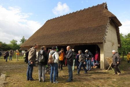Ein Gebäude im Freilandmuseum in Bad Windsheim